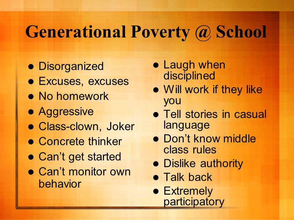 Generational Poverty @ School