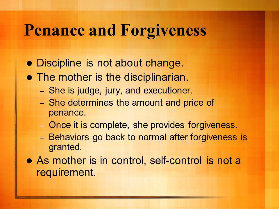 Penance and Forgiveness