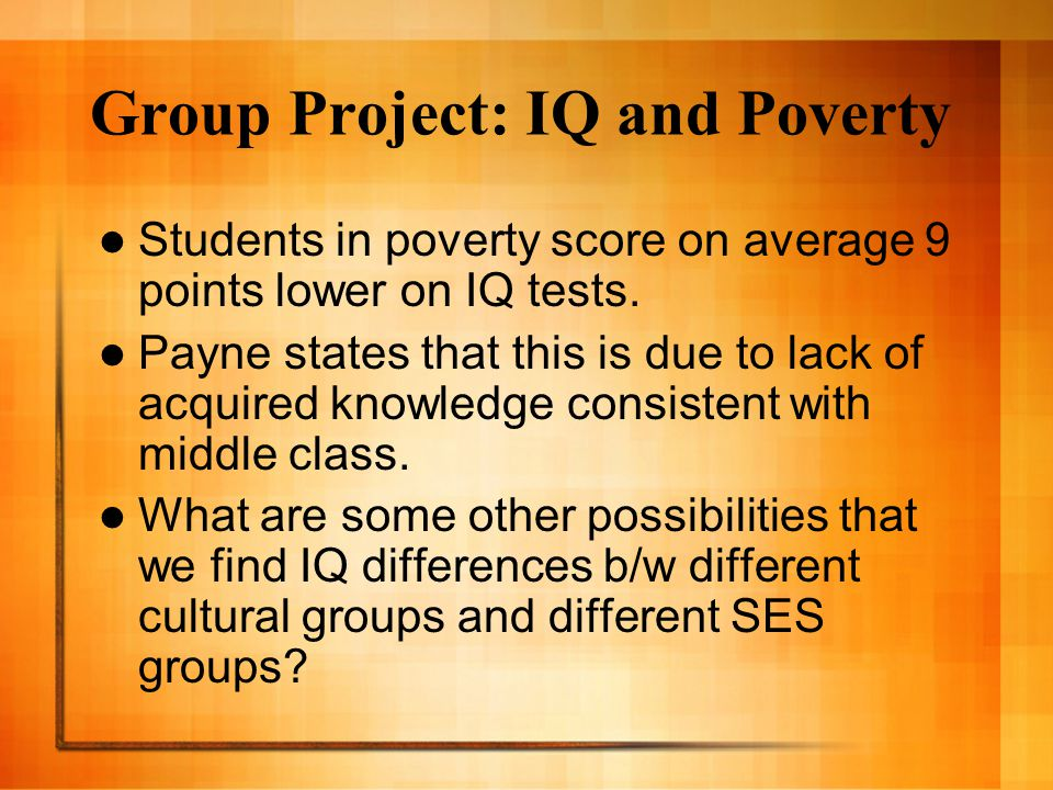 Group Project: IQ and Poverty