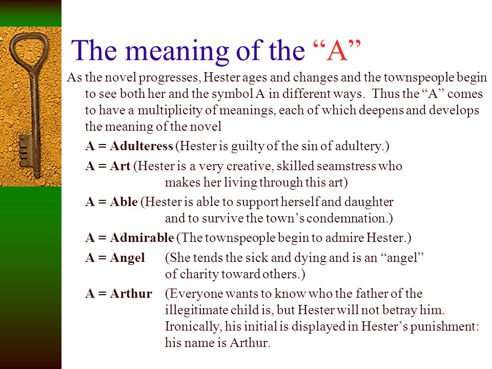 The meaning of the A