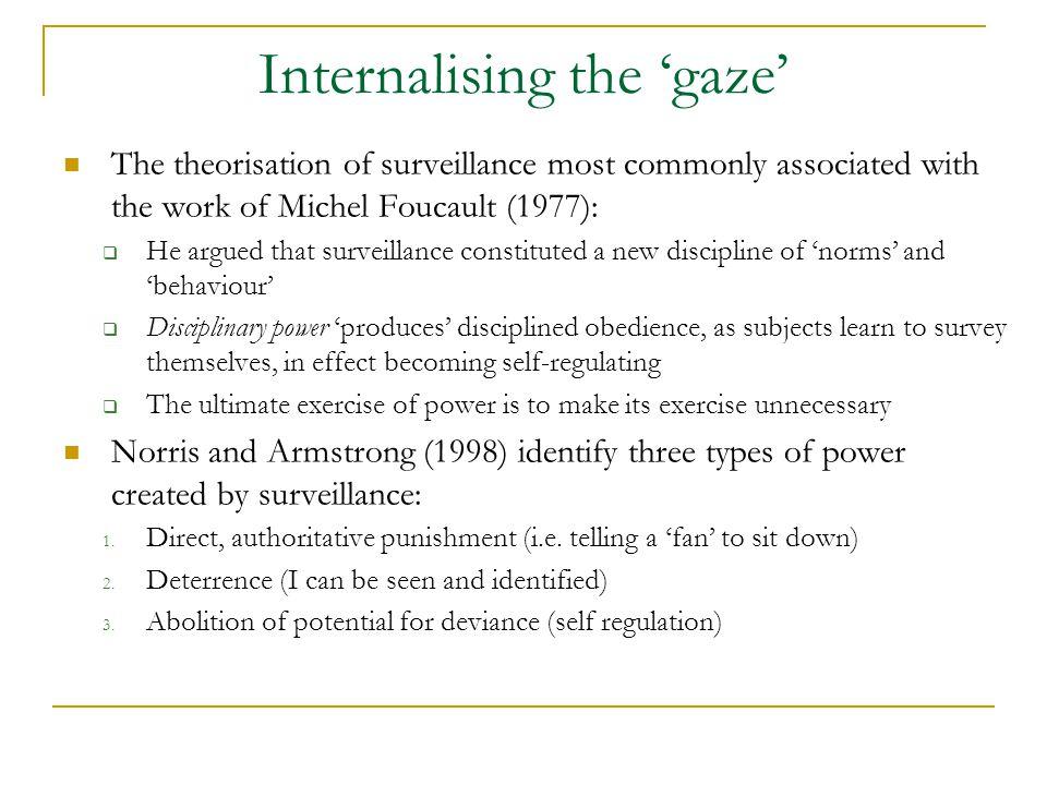 Internalising the 'gaze'
