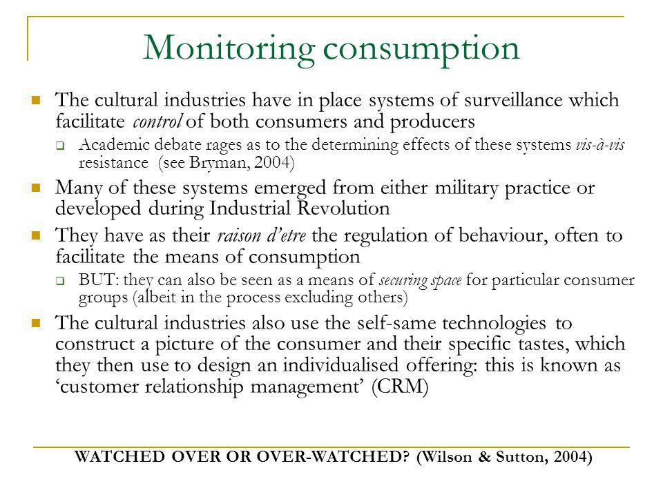 Monitoring consumption