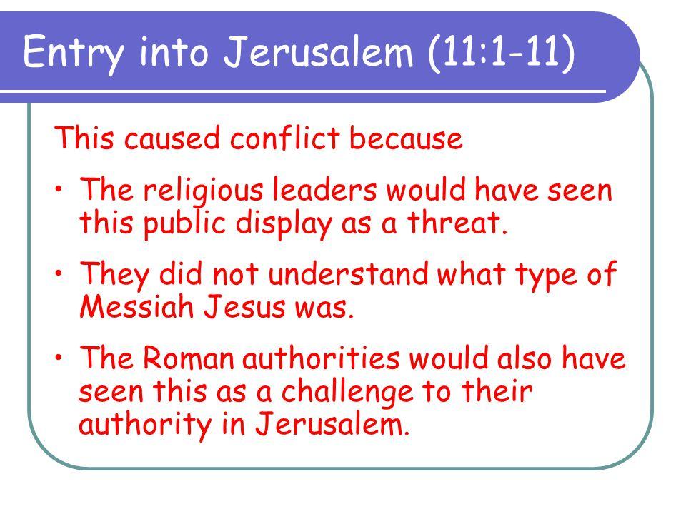 Entry into Jerusalem (11:1-11)