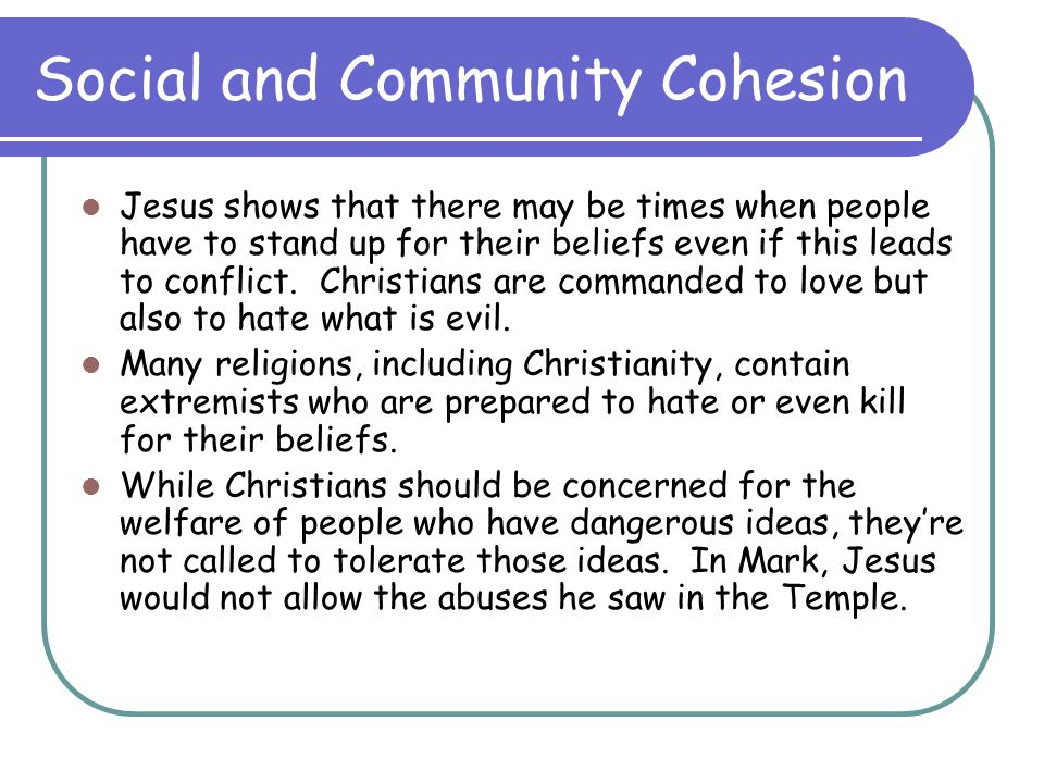 Social and Community Cohesion