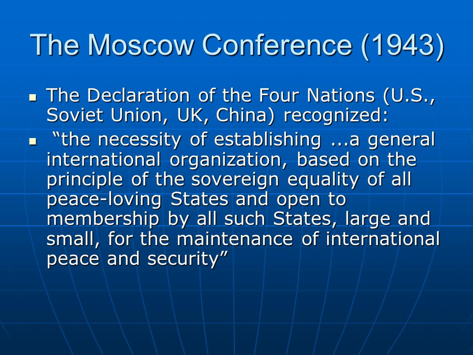 The Moscow Conference (1943)