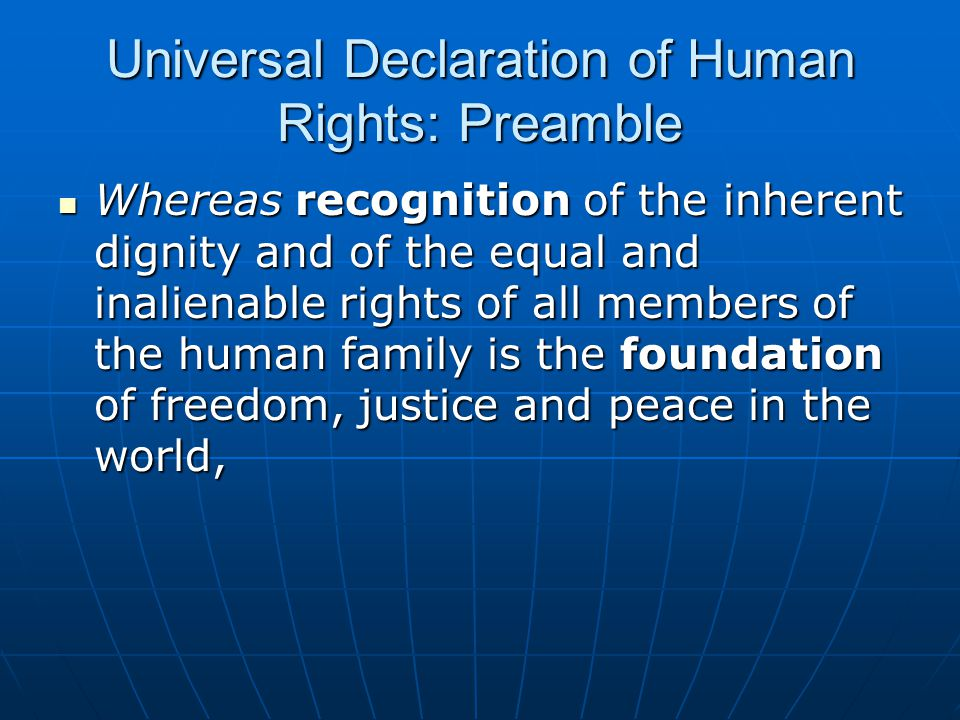 Universal Declaration of Human Rights: Preamble