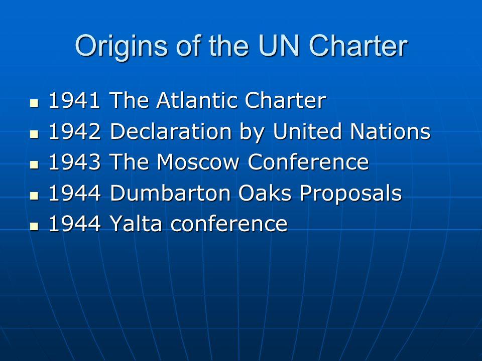 Origins of the UN Charter