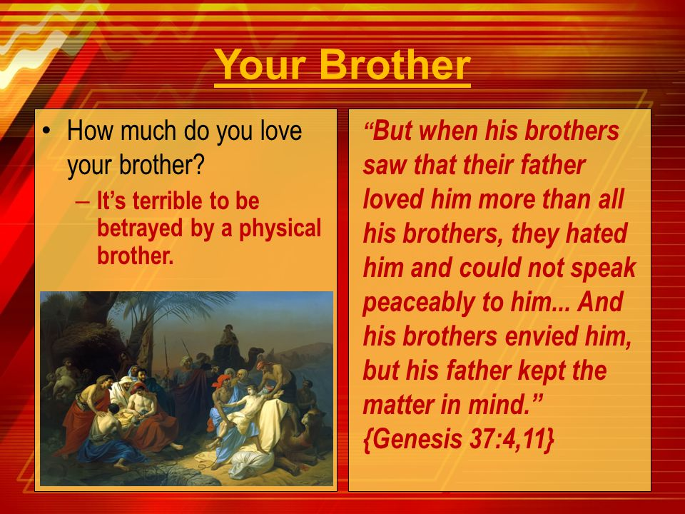 Your Brother How much do you love your brother