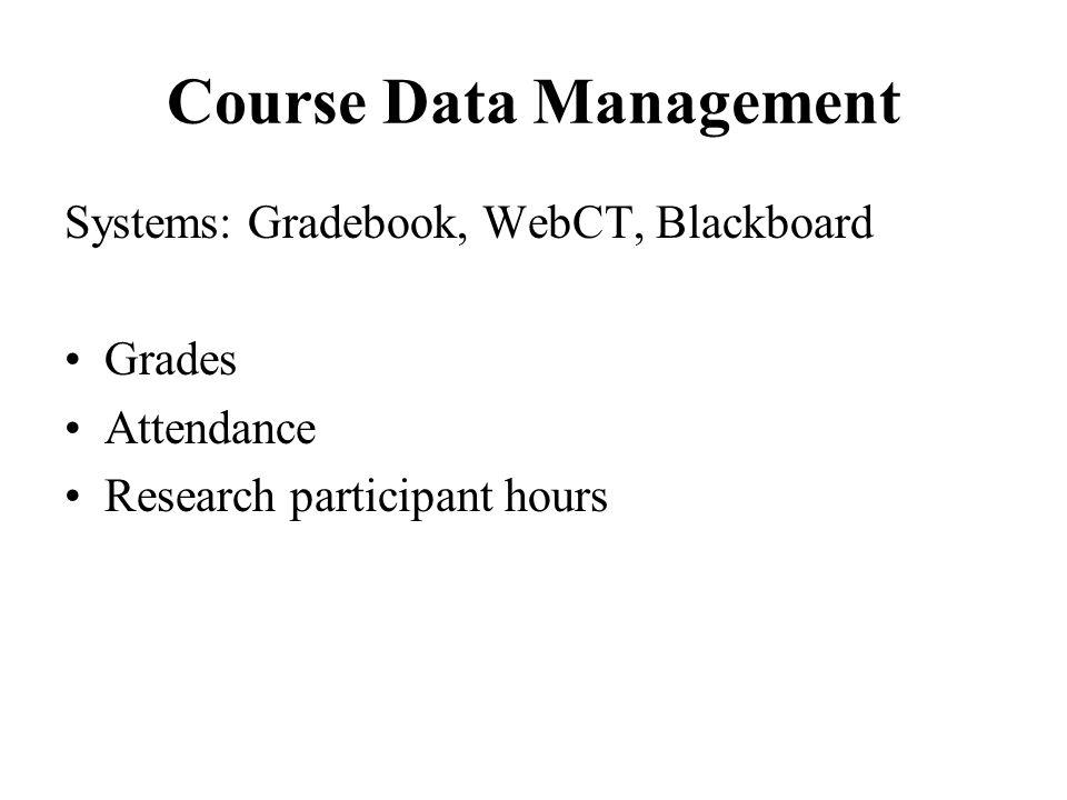 Course Data Management