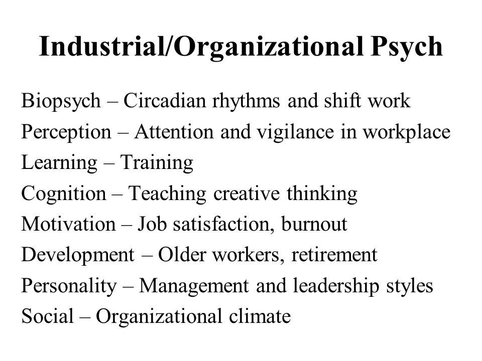 Industrial/Organizational Psych