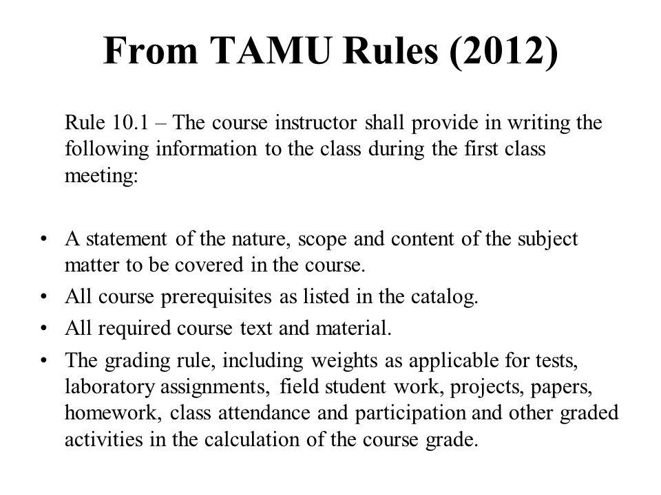 From TAMU Rules (2012)