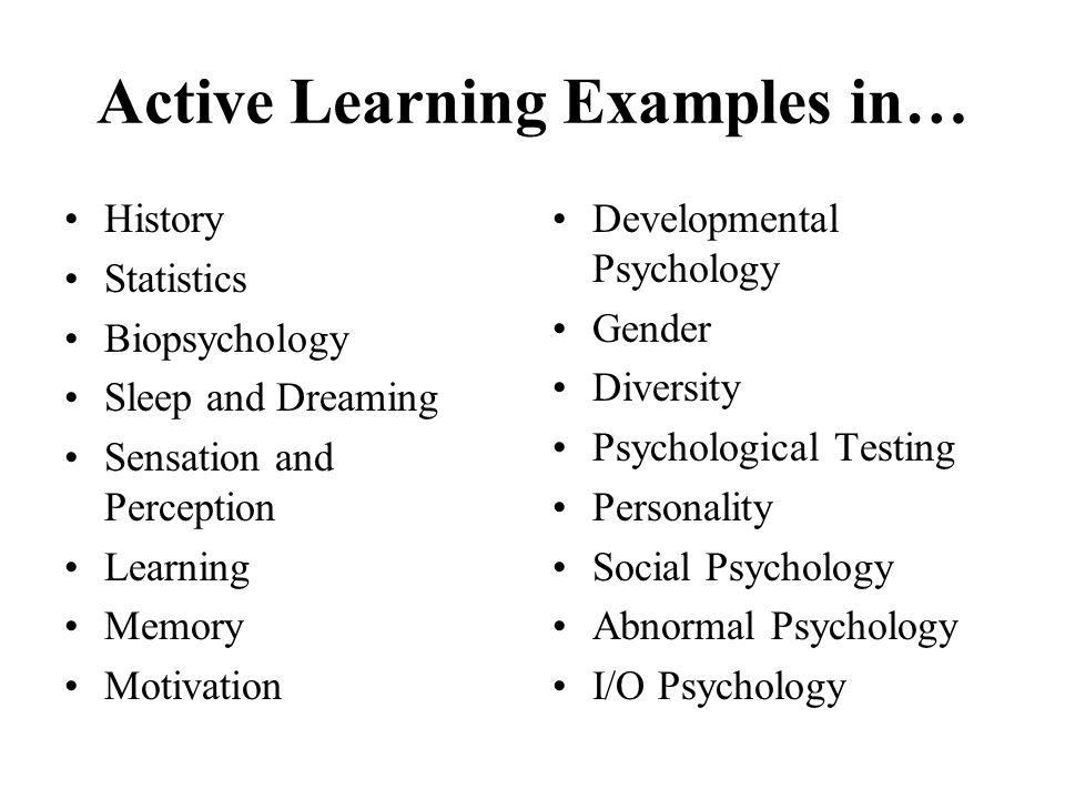 Active Learning Examples in…