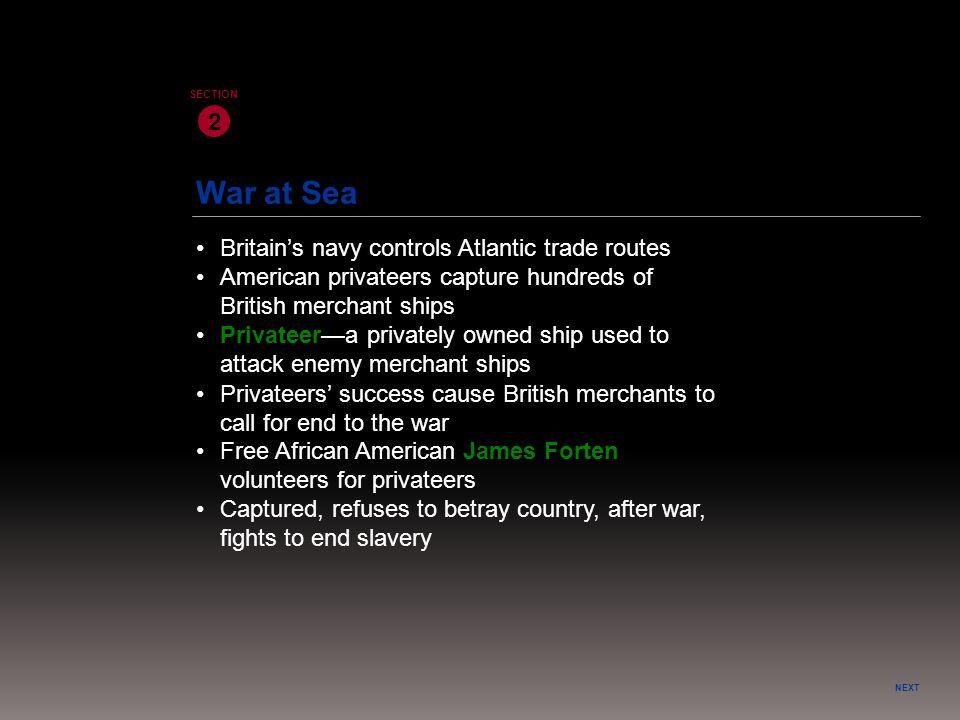 War at Sea 2 • Britain's navy controls Atlantic trade routes