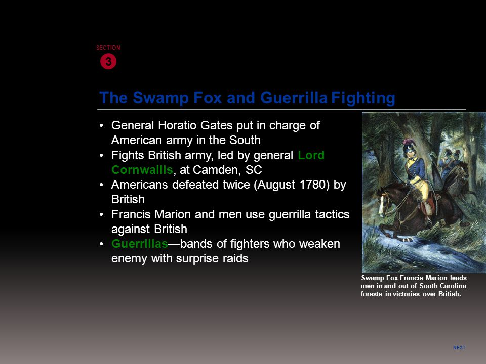 The Swamp Fox and Guerrilla Fighting
