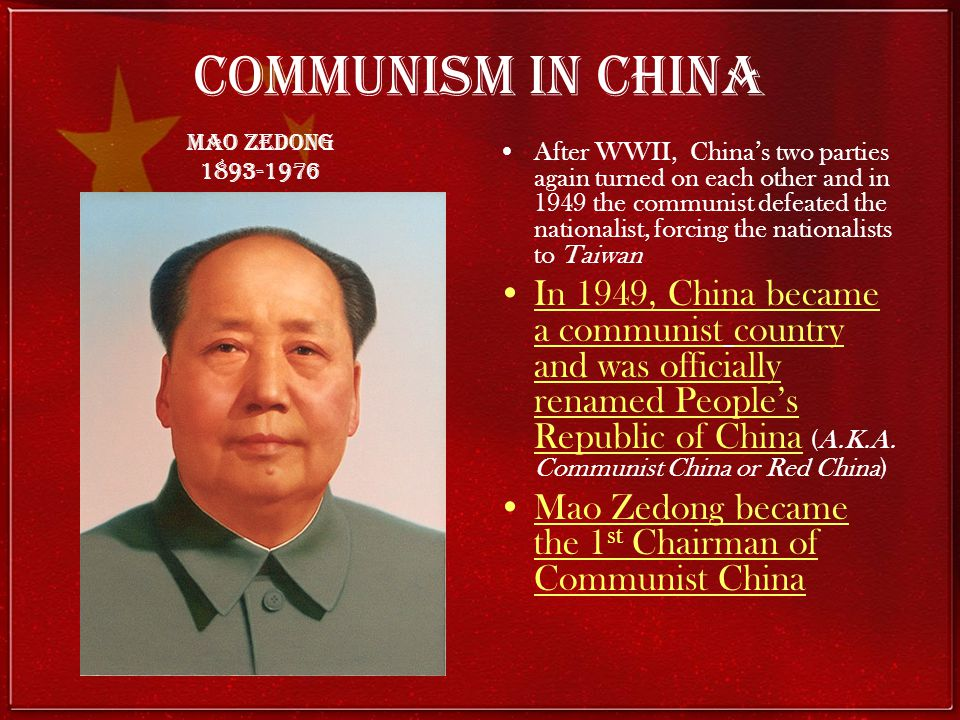 a history of how china became a communist country President xi jinping of china arriving for the opening of the national  other  countries don't have a communist party with the special history and  if xi  jinping became seriously ill, what would happen to the political system.
