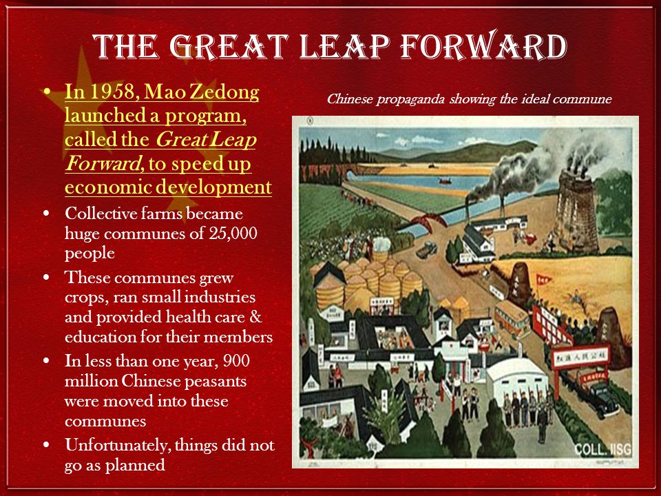 Chinese propaganda showing the ideal commune