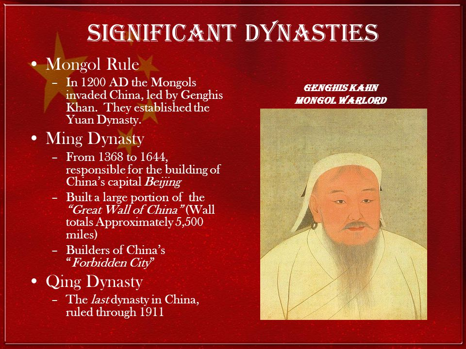 Significant Dynasties