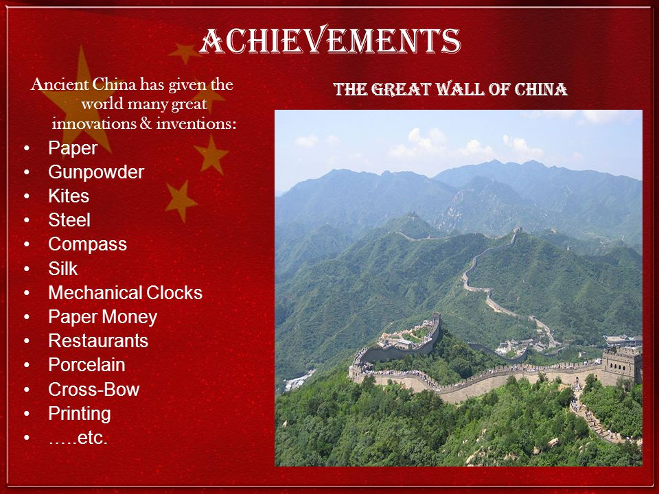 Ancient China has given the world many great innovations & inventions: