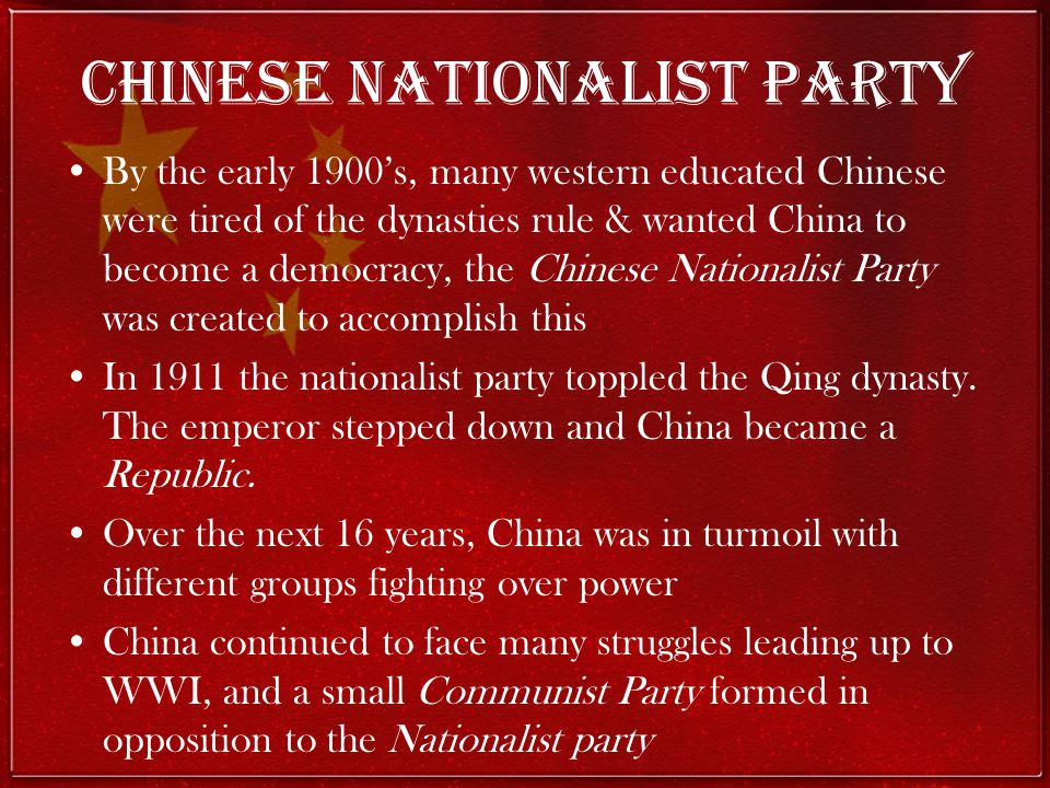 Chinese Nationalist Party