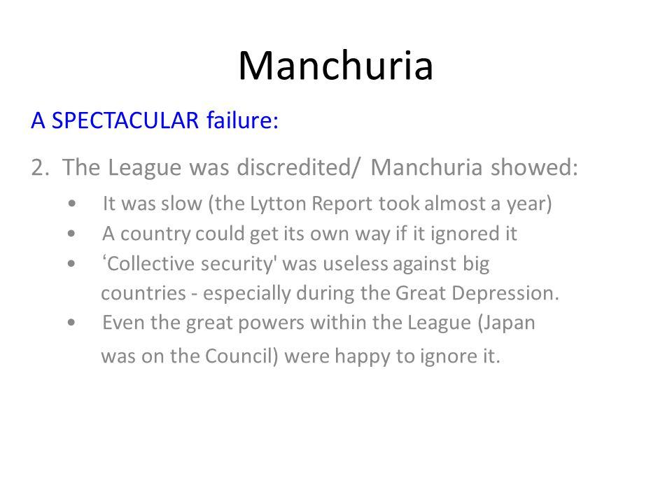 Manchuria A SPECTACULAR failure: