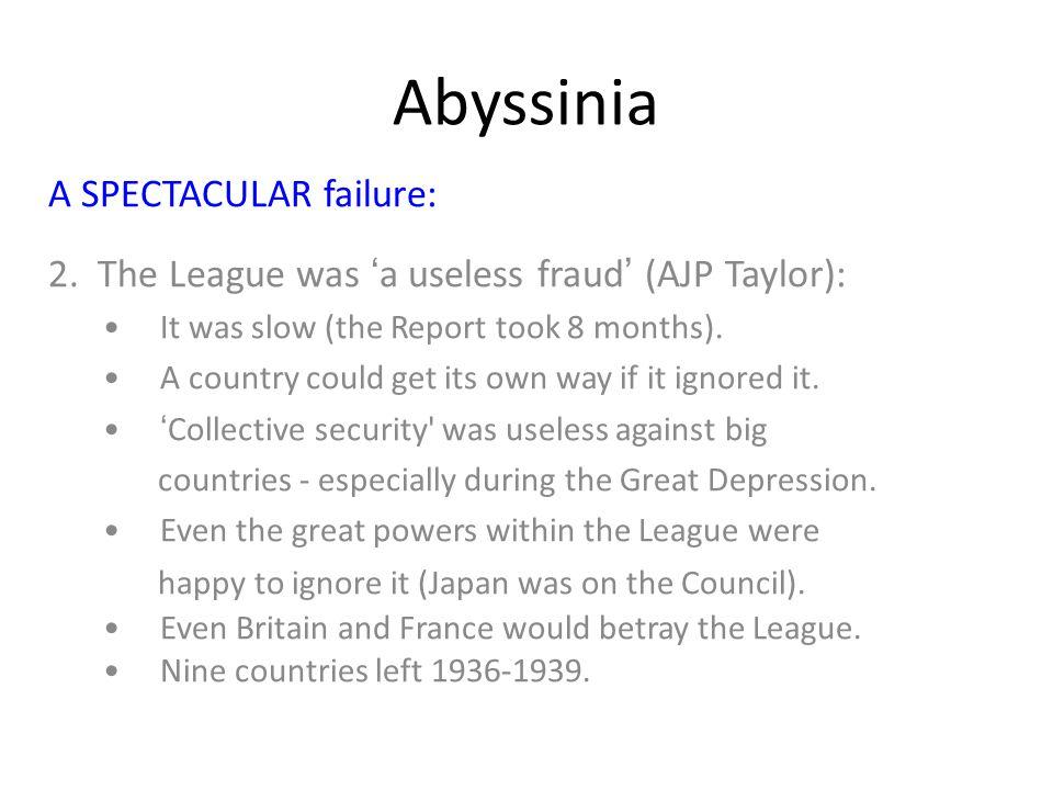 Abyssinia A SPECTACULAR failure: