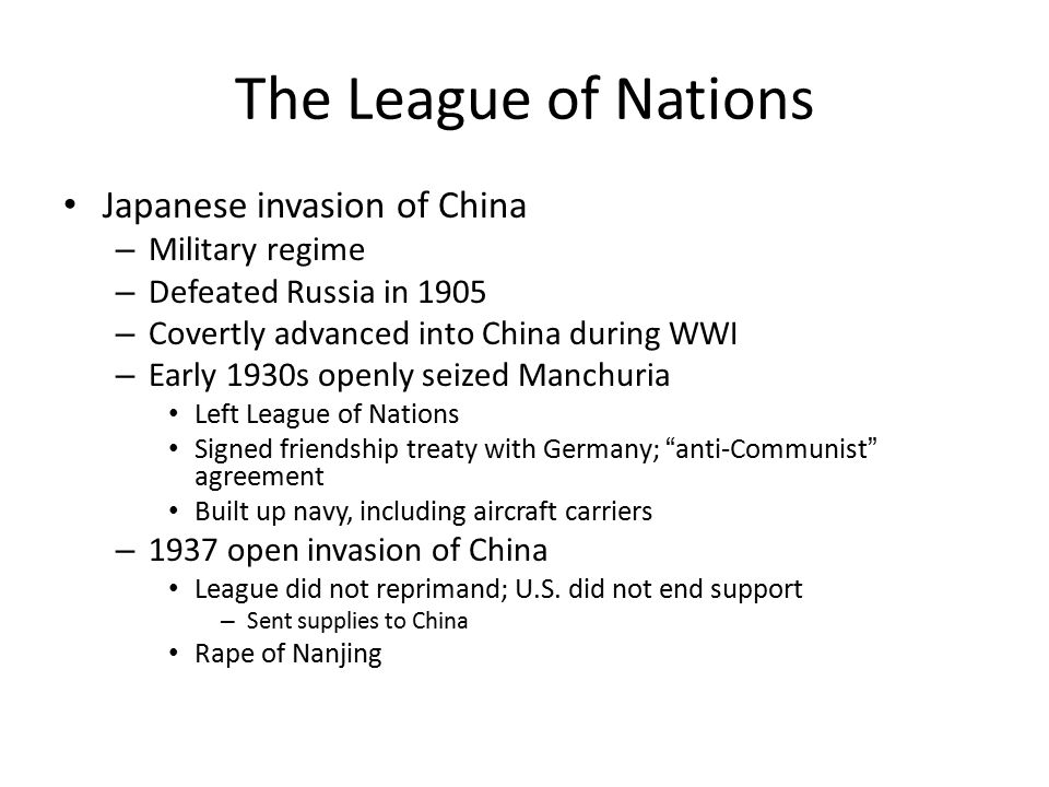 The League of Nations Japanese invasion of China Military regime