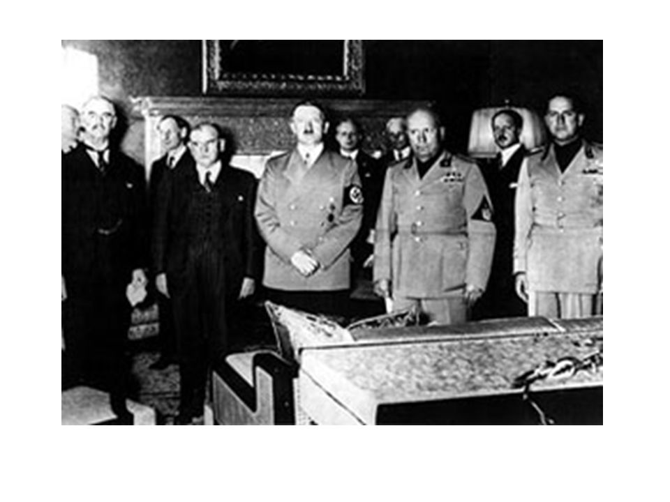 The Munich Conference in 1938 became the ultimate in appeasement