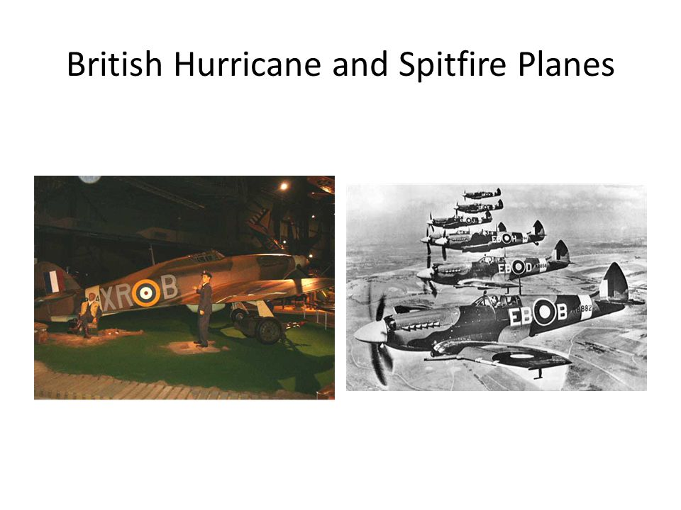 British Hurricane and Spitfire Planes