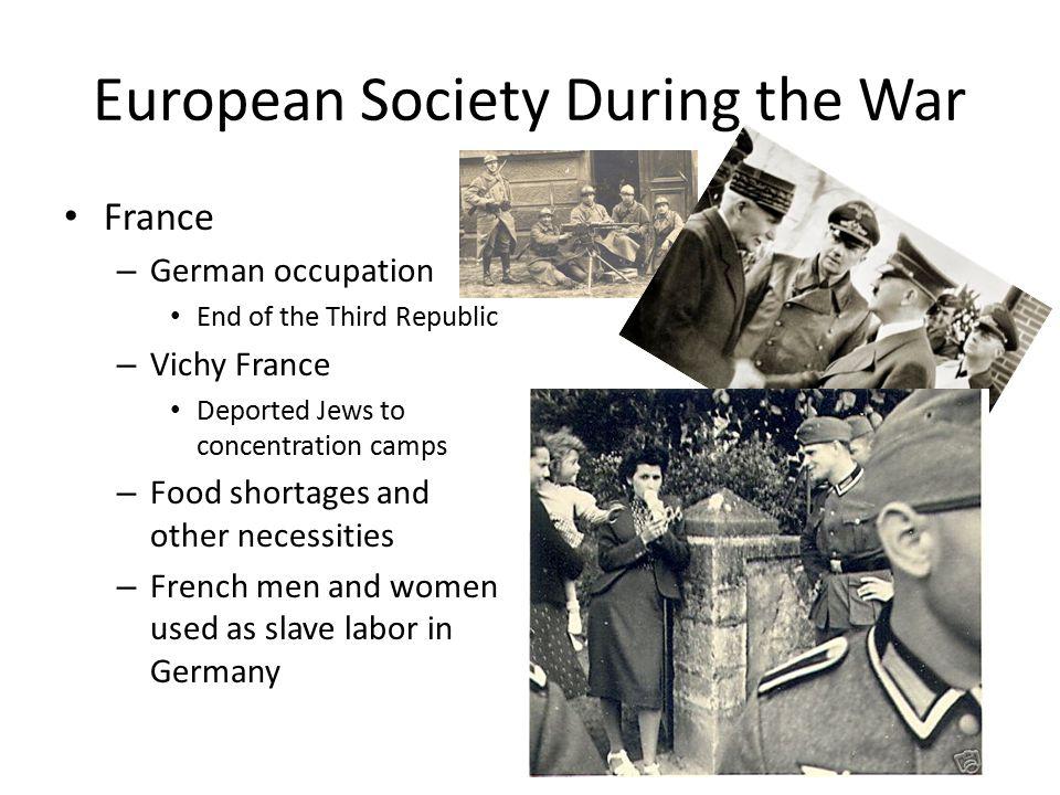 European Society During the War