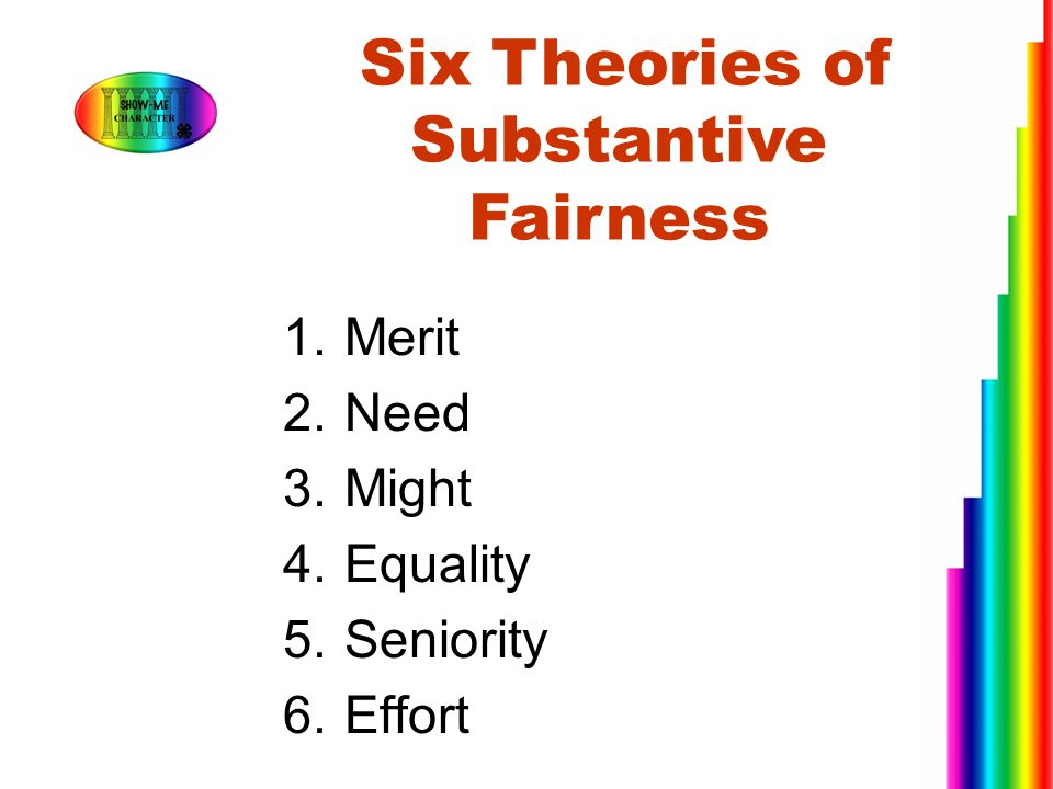 Six Theories of Substantive Fairness