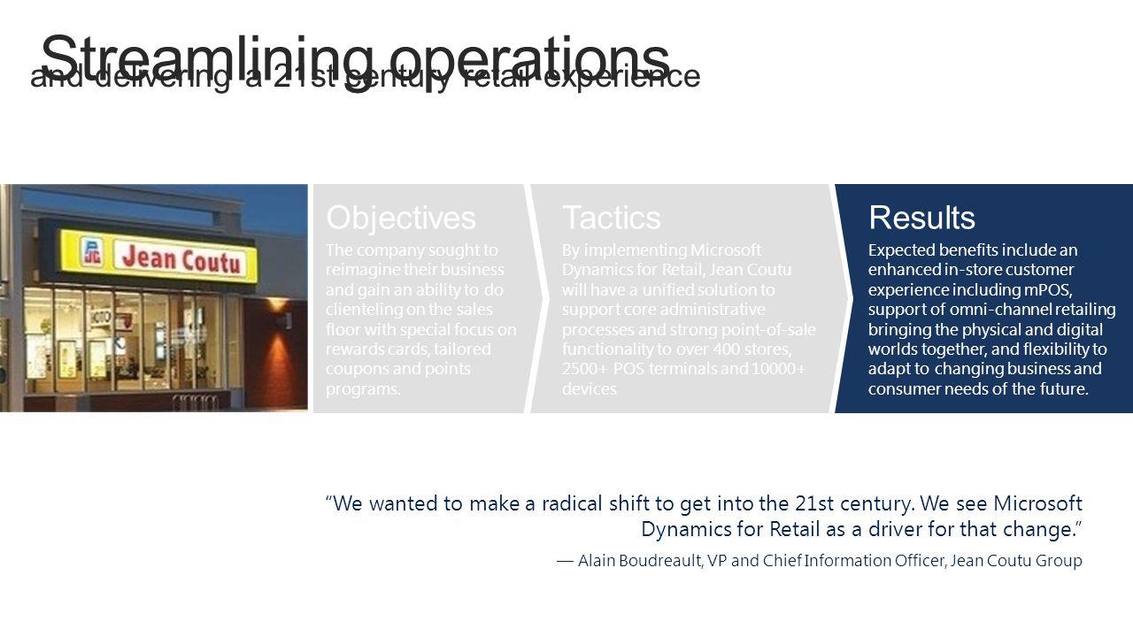 Streamlining operations
