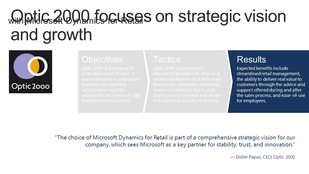 Optic 2000 focuses on strategic vision and growth