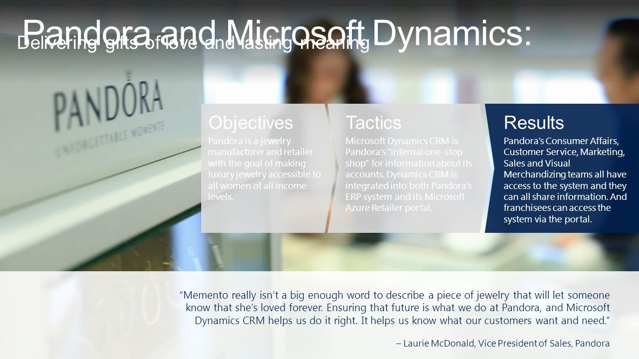Pandora and Microsoft Dynamics: