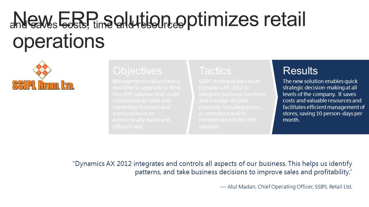 New ERP solution optimizes retail operations