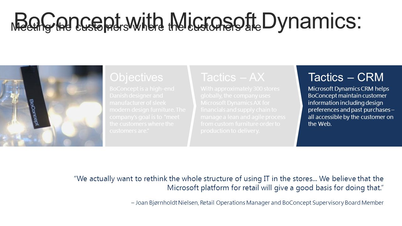 BoConcept with Microsoft Dynamics: