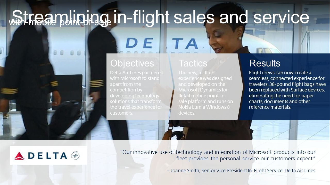 Streamlining in-flight sales and service