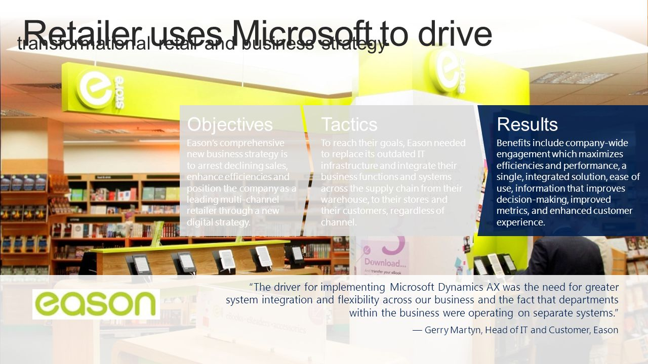 Retailer uses Microsoft to drive