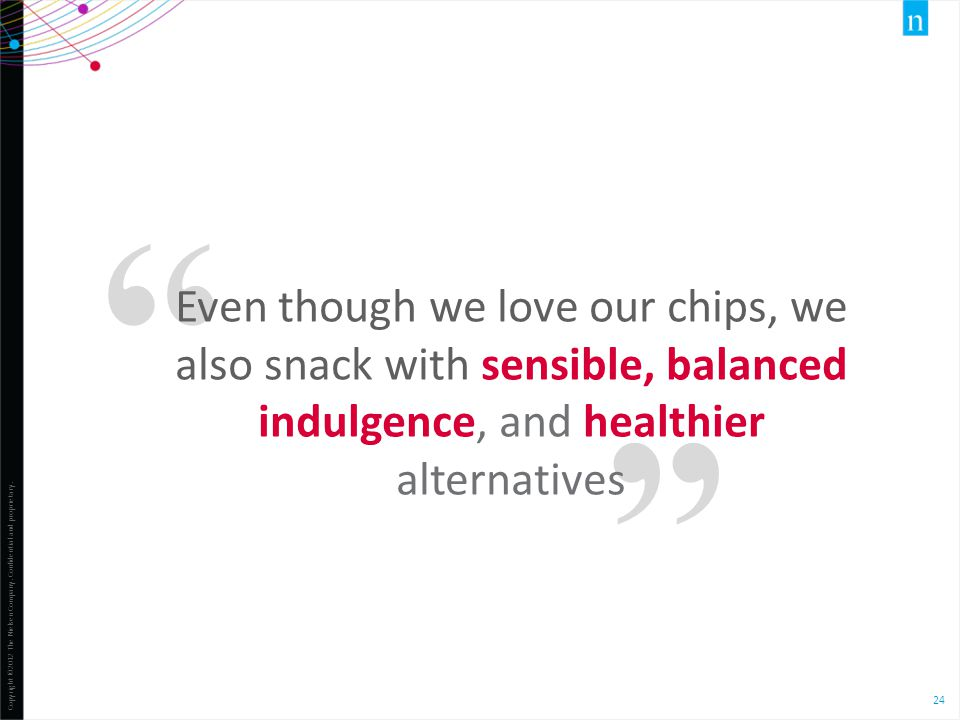 Even though we love our chips, we also snack with sensible, balanced indulgence, and healthier alternatives.