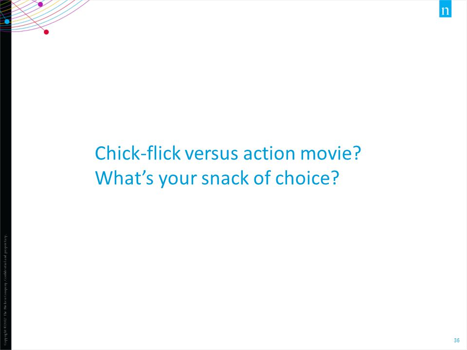 Chick-flick versus action movie What's your snack of choice