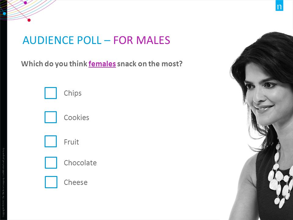 Audience Poll – for Males