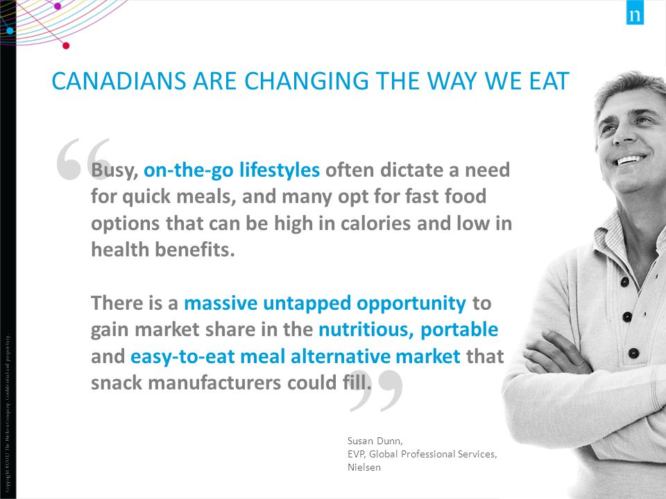 Canadians are changing the way we eat