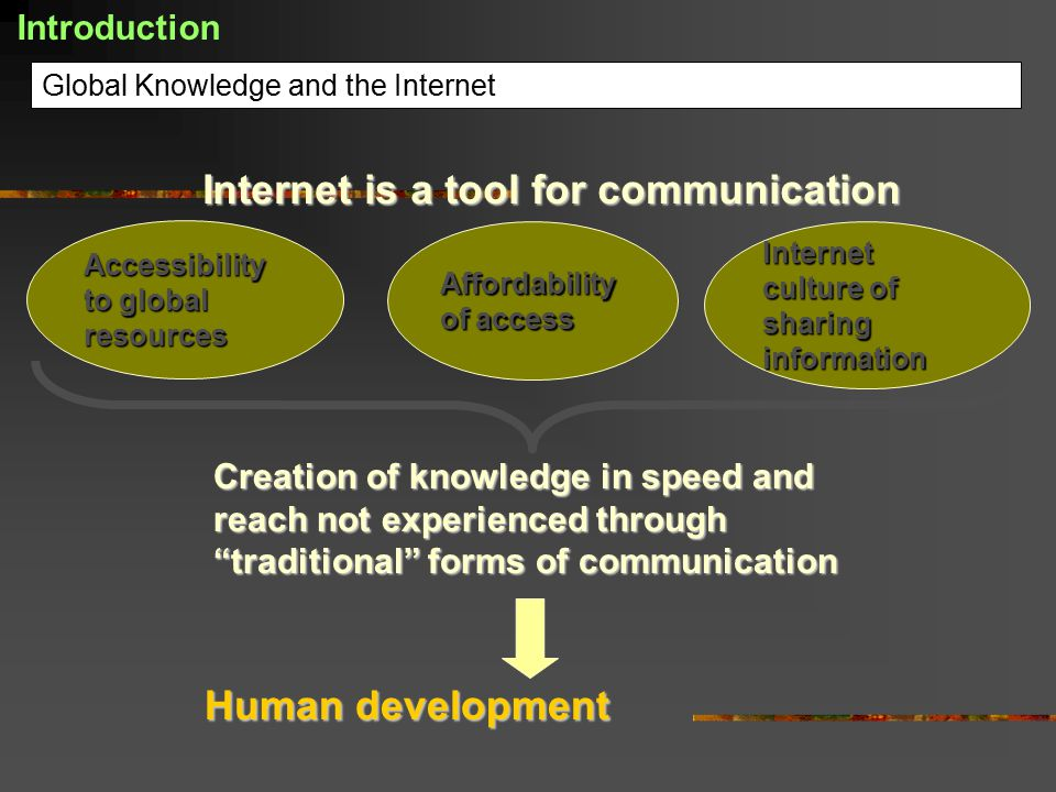 Global Knowledge and the Internet