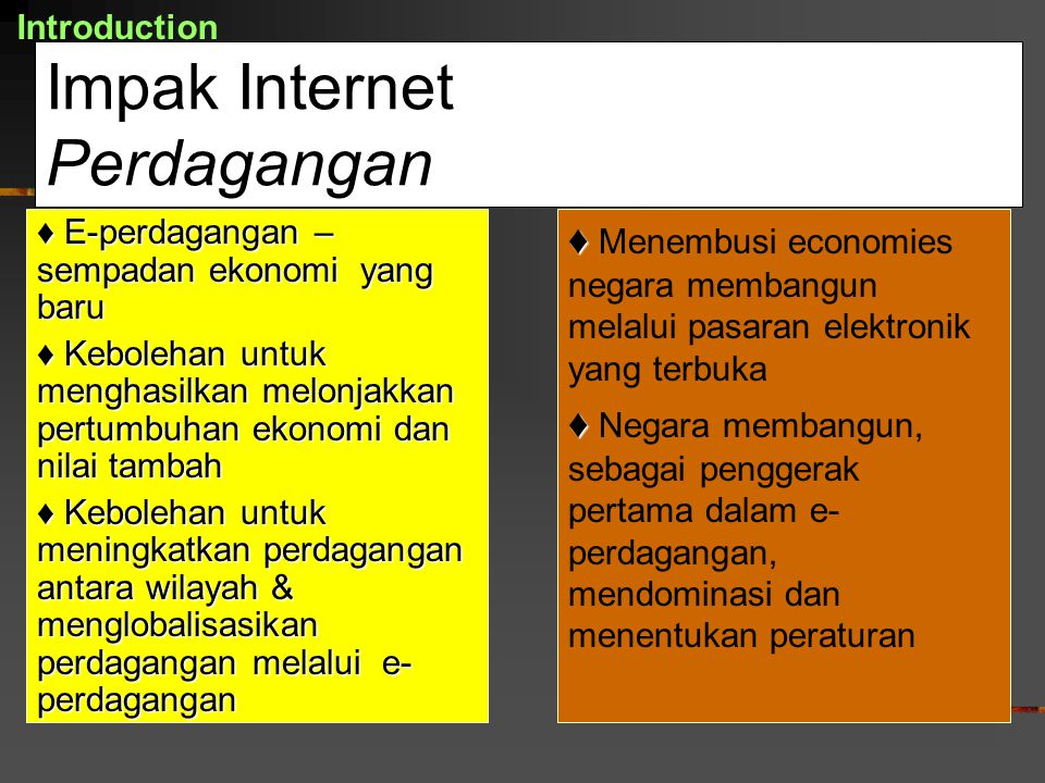 Impak Internet Perdagangan