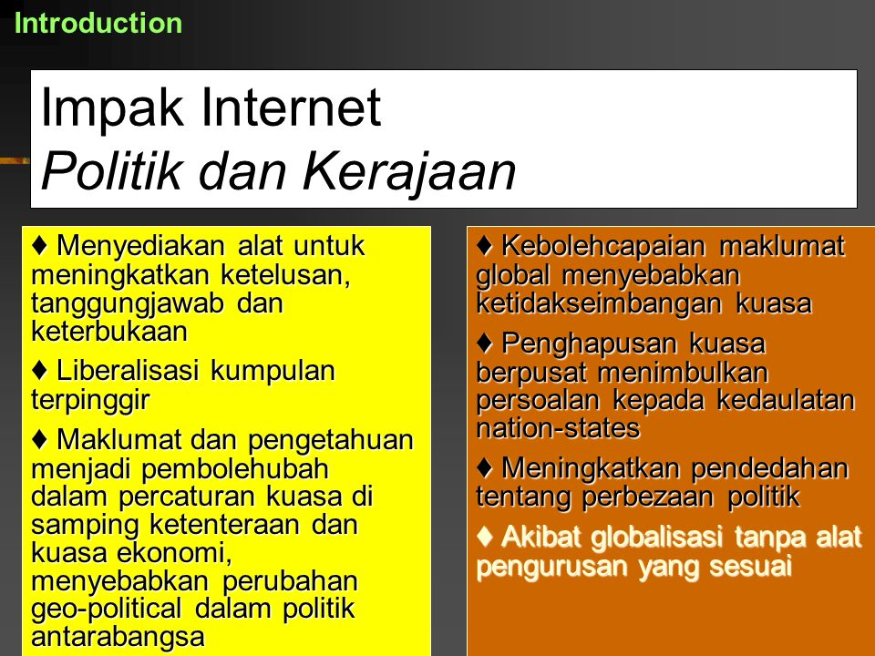 Impak Internet Politik dan Kerajaan