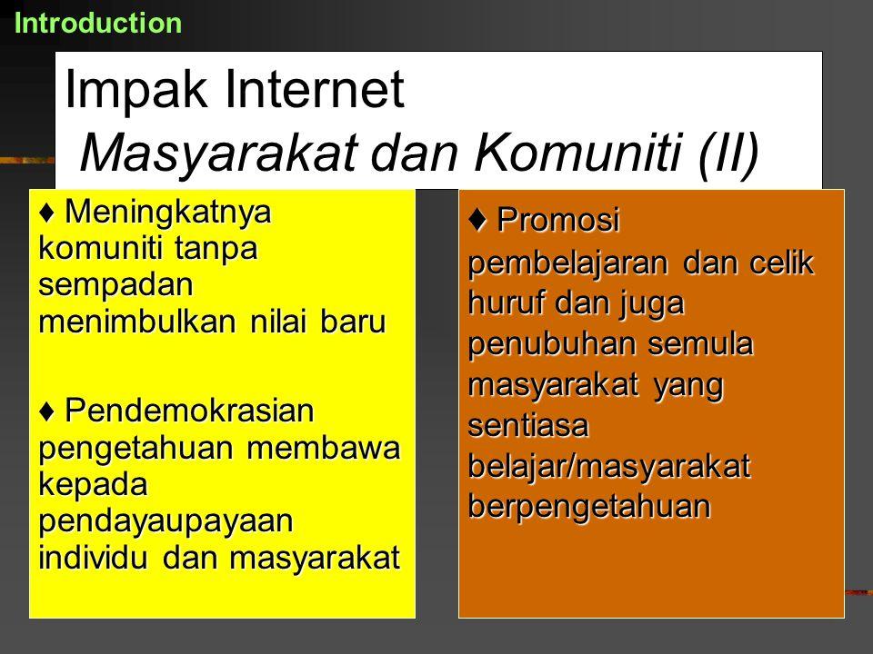 Impak Internet Masyarakat dan Komuniti (II)