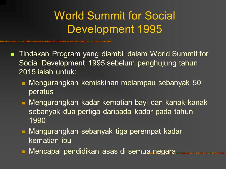 World Summit for Social Development 1995