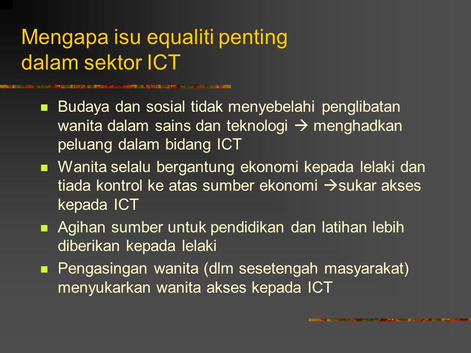 Mengapa isu equaliti penting dalam sektor ICT
