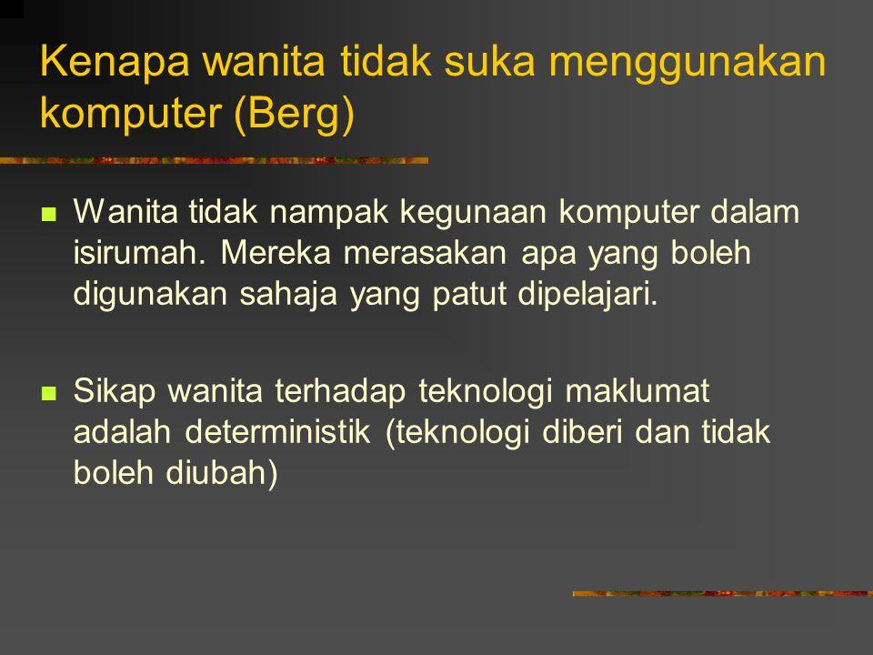 Kenapa wanita tidak suka menggunakan komputer (Berg)