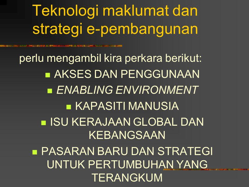 Teknologi maklumat dan strategi e-pembangunan