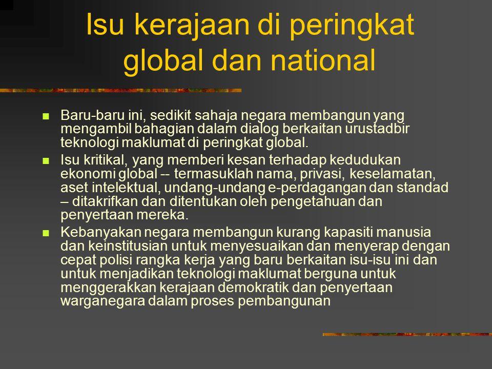 Isu kerajaan di peringkat global dan national
